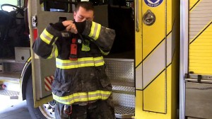 Donning Seat Belt with SCBA & Radio Strap [Video]