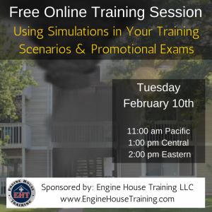 "Upcoming Webinar – ""Using Simulations in your Training Scenarios & Promotional Exams"""