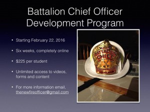 Battalion Chief Officer Development Program-Six Weeks